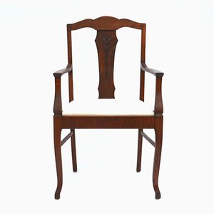 Antique Art Nouveau Swedish Oak Armchair, 1900s