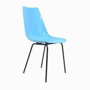 Chaise en Fibre de Verre Bleue de Vertex, 1960s