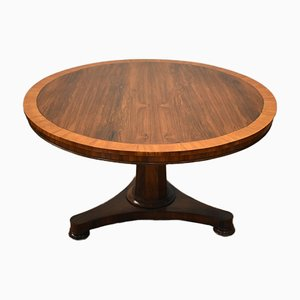 Antique Victorian Rosewood & Satinwood Dining Table