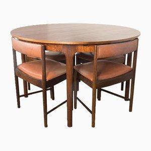 Mid-Century Palisanderset aus Esstisch & 4 Stühlen von McIntosh