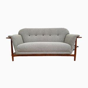 Vintage Danish Oak & Wool Sofa, 1960s