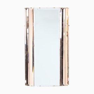 Englischer Art Deco Spiegel aus Klarglas, 1930er