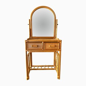 Vintage Rattan & Bamboo Dressing Table