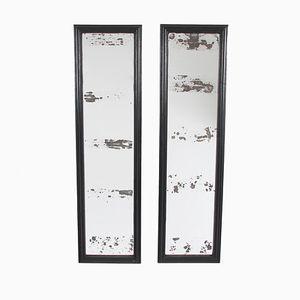 English Ebonised Mirrors, 1960s, Set of 4