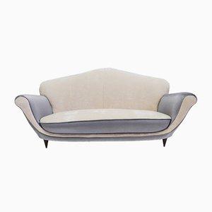 Zweifarbiges italienisches Sofa, 1950er