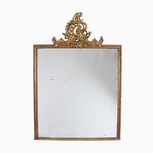 Espejo sueco antiguo de madera dorada