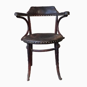 Antique Leather Chair from Thonet