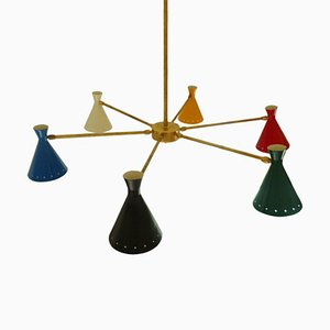 Mid-Century Italian Adjustable Chandelier, 1960s
