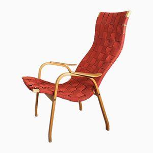 Vintage Kurva Sessel mit Gestell aus Buche & Teak von Yngve Ekström für Swedese