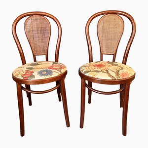 Sedie vintage in legno curvo, set di 2