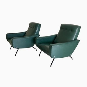 Mid-Century Armchairs by Joseph-André Motte for Steiner, 1950s, Set of 2