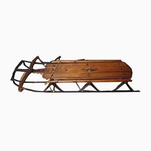 Vintage Tandem Sled by Samuel Leeds Allen for Flexible Flyer