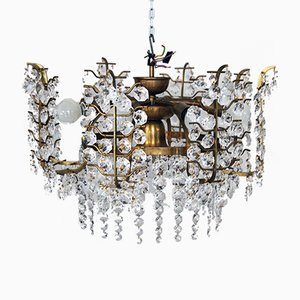Vintage Crystal Chandelier from Bakalowits & Söhne, 1950s