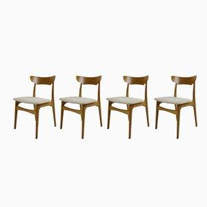 Esszimmerstühle aus Eiche von Schiønning & Elgaard, 1970er, 4er Set