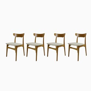 Oak Dining Chairs from Schiønning & Elgaard, 1970s, Set of 4