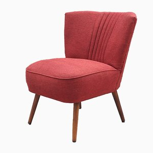 Vintage Red Cocktail Armchair, 1960s