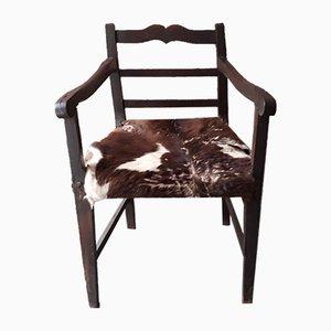 Antique Goat Leather Armchair