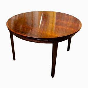 Danish Rosewood Flip-Flap Extendable Lotus Dining Table from Dyrlund, 1960s