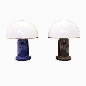Lampes de Bureau Champignon Vintage, Italie, Set de 2
