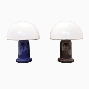 Vintage Italian Mushroom Table Lamps, Set of 2