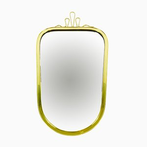 Mid-Century Asymmetrical Brass Framed Wall Mirror from Münchner Zierspiegel, 1960s
