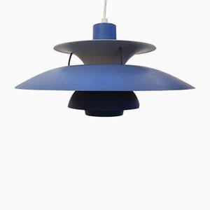 Lámpara colgante PH5 escandinava Mid-Century de aluminio de Poul Henningsen para Louis Poulsen