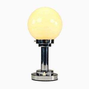 Art Deco Tischlampe aus Messing & Chrom, 1930er