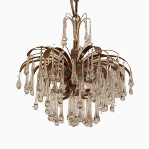 Brass Chandelier from Palwa, 1970s
