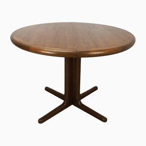 Mesa de comedor extensible danesa vintage de teca