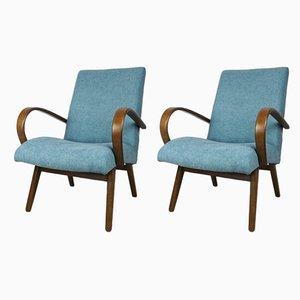 Vintage Modell 53 Sessel von Jaroslav Smidek für TON, 2er Set