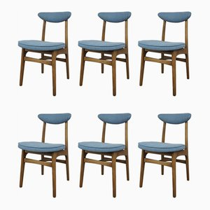 Mid-Century Model 200 = 190 Dining Chairs by R. T. Hałas, Set of 6