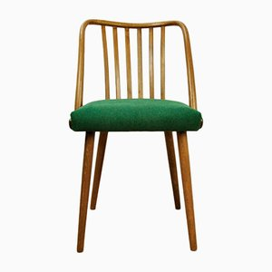 Green Dining Chairs by Antonin Suman for Ton, 1960s, Set of 4