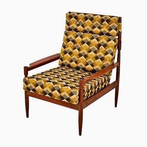 Vintage Sessel mit Gestell aus Mahagoni