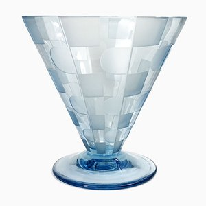 Art Deco Conic Glass Vase, 1920s