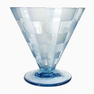 Jarrón Art Déco cónico de vidrio, años 20