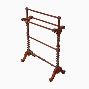 Antique Mahogany Victorian Towel Rail Stand