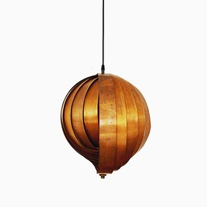 Copper Moon Pendant Lamp, 1960s