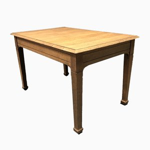 French Light Oak Kitchen Table, 1940s