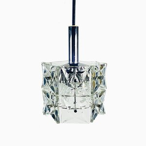 Crystal Glass Hanging Lamp by Kinkeldey, 1960s