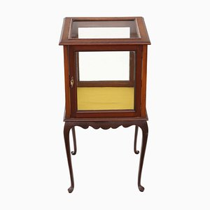 Antique Mahogany Display Cabinet Table