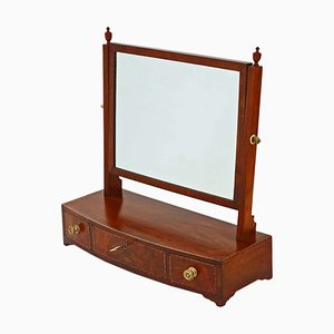 Antique Georgian Mahogany Swing Dressing Table Mirror