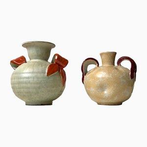 Jarrones suecos Art Déco de cerámica de Harald Ostergren para Ekeby, años 30. Juego de 2