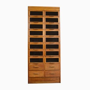 Window Fronted Oak Haberdashery Cabinet, 1930s