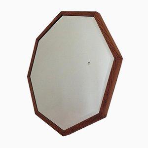 Octagonal Art Deco Oak Mirror, 1930s