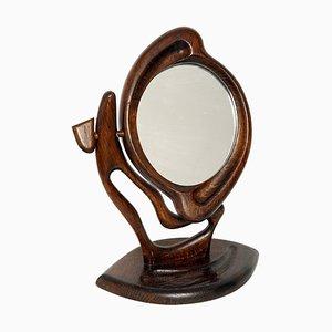 Polnischer Spiegel mit Rahmen aus Eiche, 1980er