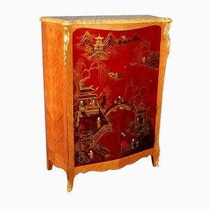 Mueble bar vintage lacado, años 50