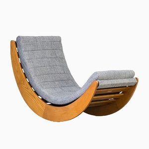 Vintage Lounge Rocking Chair by Verner Panton for Matzform
