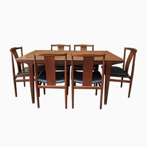 Teak Scandinavian Dining Chairs, 1960s, Set of 6