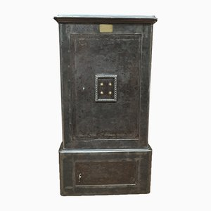Iron and Brass Safe Cabinet from Gruson, 1900s