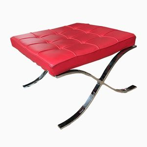 Vintage Barcelona Footstool by Mies Van der Rohe for Knoll